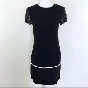 Jenny Han Fitted Black Lace Detail Dress